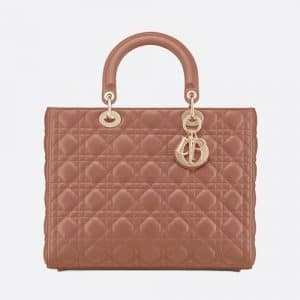 Dior Blush Powder Large Lady Dior Bag