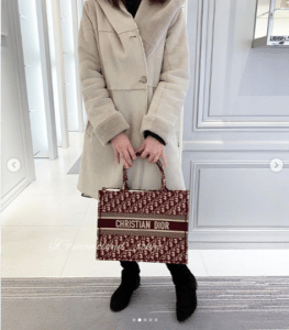 Dior Burgundy Oblique Canvas Small Book Tote Bag 3