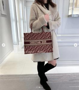 Dior Burgundy Oblique Canvas Small Book Tote Bag 4