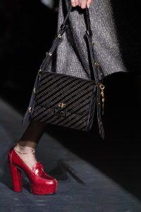 Givenchy Black Logo Fabric Flap Bag - Fall 2019