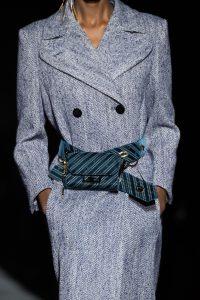 Givenchy Blue Logo Fabric Belt Bag - Fall 2019
