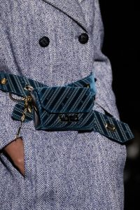 Givenchy Blue Logo Fabric Flap Bag 2 - Fall 2019