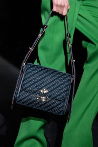Givenchy Blue Logo Fabric Flap Bag - Fall 2019
