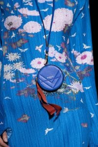 Givenchy Blue Mini Round Pouch Bag - Fall 2019