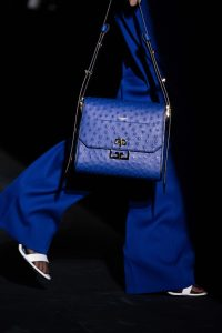 Givenchy Blue Ostrich Flap Bag - Fall 2019