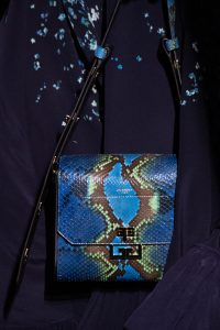 Givenchy Blue/Turquoise Python Flap Bag - Fall 2019