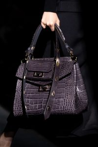 Givenchy Gray Crocodile Top Handle and Mini Flap Bags - Fall 2019
