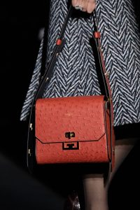 Givenchy Red Ostrich Flap Bag - Fall 2019