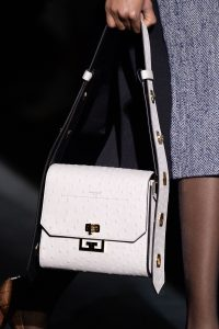 Givenchy White Ostrich Flap Bag - Fall 2019