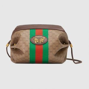 Gucci Beige/Ebony Mini GG Supreme Canvas Mini Bag