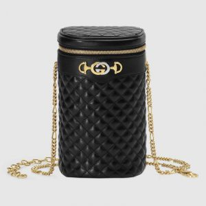 Gucci Black Quilted Leather Belt Bag