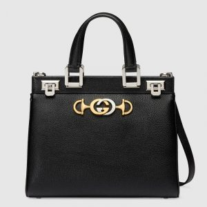 Gucci Black Zumi Small Top Handle Bag