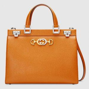 Gucci Burnt Orange Zumi Medium Top Handle Bag