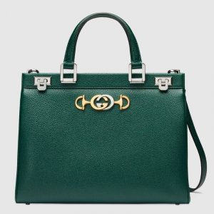 Gucci Green Zumi Medium Top Handle Bag