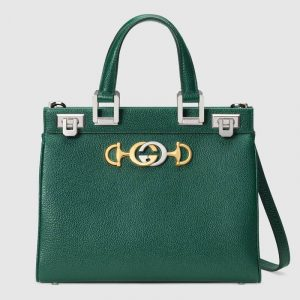 Gucci Green Zumi Small Top Handle Bag
