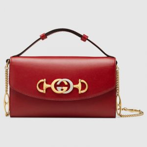 Gucci Hibiscus Red Zumi Mini Shoulder Bag