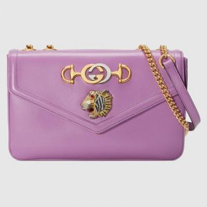 Gucci Purple Rajah Medium Shoulder Bag