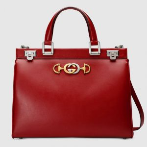 Gucci Red Zumi Medium Top Handle Bag