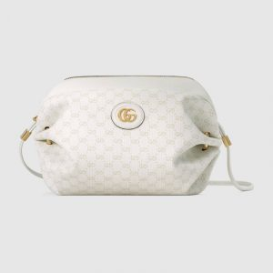 Gucci White Mini GG Supreme Canvas Mini Bag