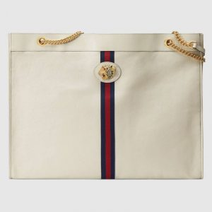 Gucci White Rajah Maxi Tote Bag