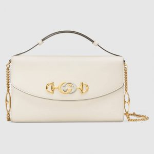 Gucci White Zumi Small Shoulder Bag