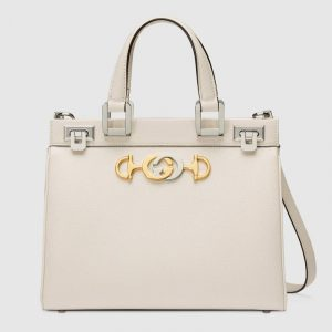 Gucci White Zumi Small Top Handle Bag