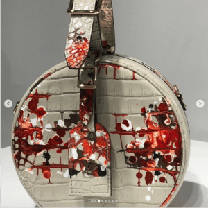 Louis Vuitton Beige Crocodile Printed Petite Boite Chapeau Bag