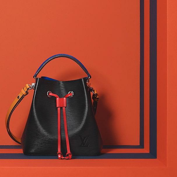 Louis Vuitton Black Safran Epi NeoNoe BB Bag 1