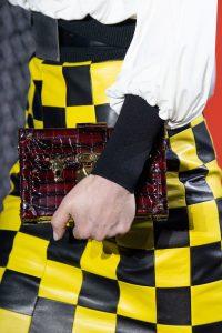 Louis Vuitton Burgundy Crocodile Petite Malle Bag - Fall 2019