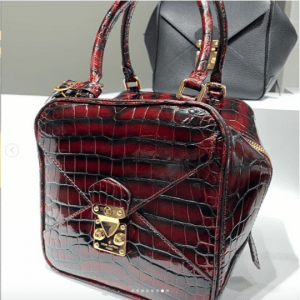 Louis Vuitton Burgundy Crocodile Square Bag 2