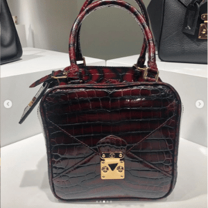 Louis Vuitton Burgundy Crocodile Square Bag
