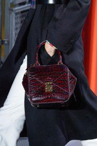 Louis Vuitton Burgundy Crocodile Top Handle Bag - Fall 2019