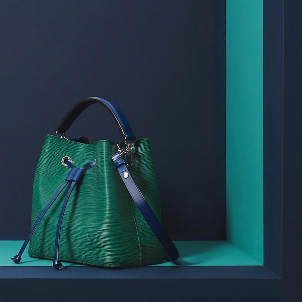 Louis Vuitton Emerald Green Indigo Epi NeoNoe BB Bag 1