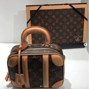Louis Vuitton Monogram Canvas Art Folder and Mini Luggage Bag