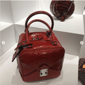 Louis Vuitton Red Python Square Bag