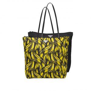 Prada Banana Print Nylon Twin Bag
