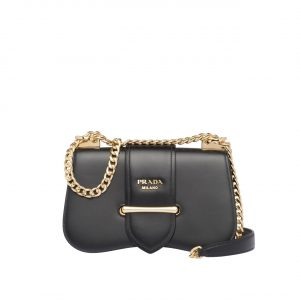 Prada Black Sidonie Chain Shoulder Bag