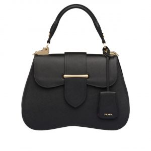 Prada Black Sidonie Large Saffiano Bag
