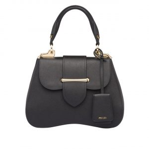 Prada Black Sidonie Medium Saffiano Bag