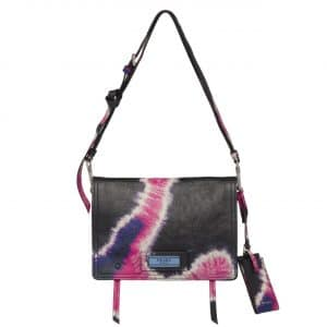 Prada Black/Pink Tie-Dye Print Etiquette Shoulder Bag