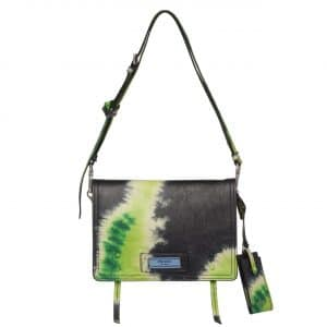 Prada Black/Yellow Tie-Dye Print Etiquette Shoulder Bag