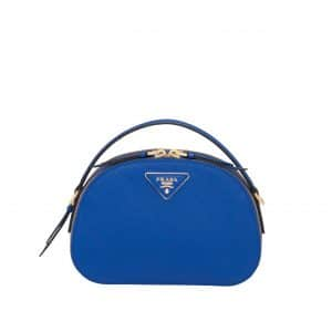 Prada Blue Odette Saffiano Leather Bag