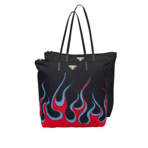 Prada Flame Print Nylon Twin Bag