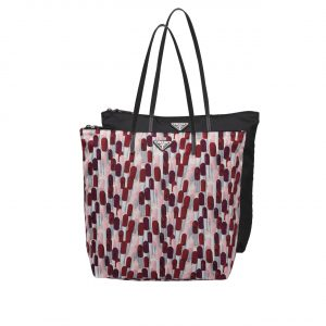 Prada Lipstick Print Nylon Twin Bag