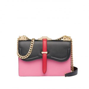Prada Pink/Black Belle Shoulder Bag