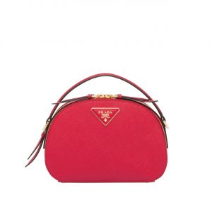Prada Red Odette Saffiano Leather Bag