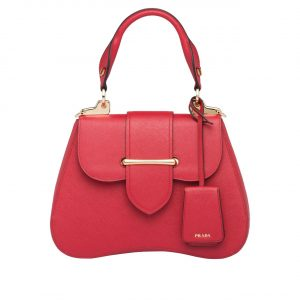 Prada Red Sidonie Medium Saffiano Bag
