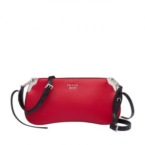 Prada Red Sidonie Small Shoulder Bag