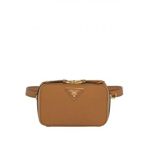 Prada Tan Odette Saffiano Belt Bag