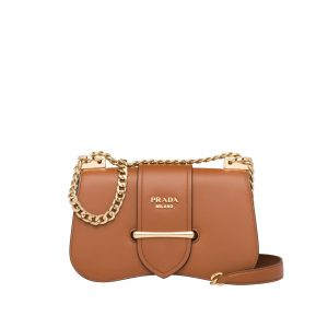 Prada Tan Sidonie Chain Shoulder Bag